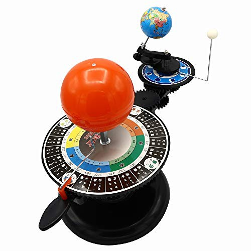 【送料無料】Hcom 太陽系の動きを学ぶ 天体軌道模型 電池で動く 惑星軌道 太陽 地球 月 プラネタリウム おもちゃ 科学 学習 自由研究