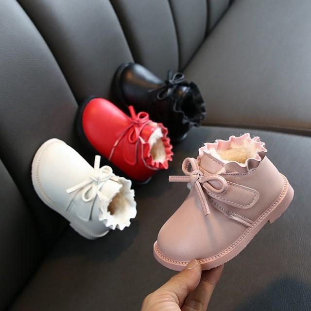 マジックテープ履き脱 男女兼用 子ども用くつ スリッパ 綿靴 脱ぎ履きやす 保暖 防滑 軽量 くつ 柔軟で快適 秋冬かわいい カジュアルく