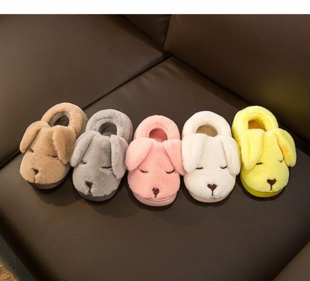 秋冬かわいい カジュアルくつ スリッパ 男女兼用 子ども用くつ 綿靴 脱ぎ履きやす 保暖 防滑 軽量 くつ 柔軟で快適