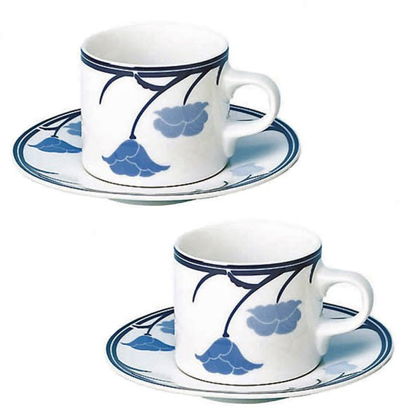 DANSKダンスク TIVOLIチボリコーヒーカップ&ソーサー 180ccブルー×2