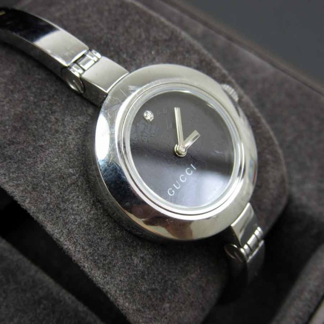 【中古】グッチ 腕時計 リストウォッチ◆定番人気 文字盤:ブラック