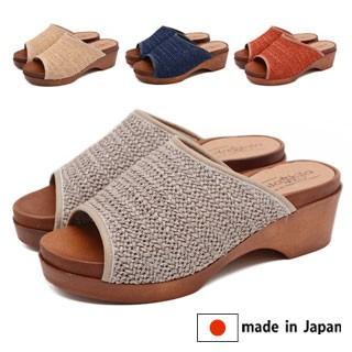 3000円以上送料無料 サンダル レディース レディース靴 日本製 メッシュ サボサンダル 国産 靴