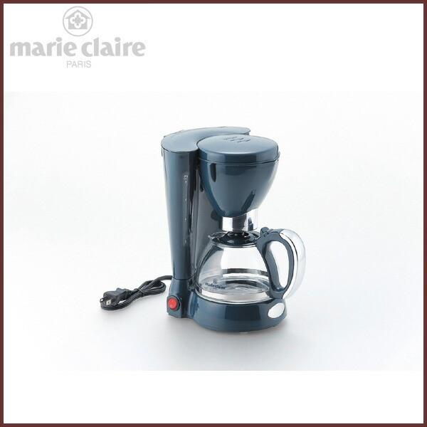 コーヒーメーカー ペーパーレスフィルター 600cc(約5杯分) 【marie claire -マリクレール-】◆ダークグレー&シルバー/タマ