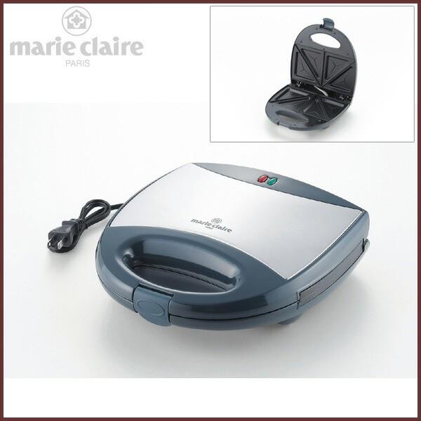 ホットサンドメーカー ダブル 【marie claire -マリクレール-】◆キッチン家電/調理家電/ダークグレー&シルバー/タマハシ/ギフト対応