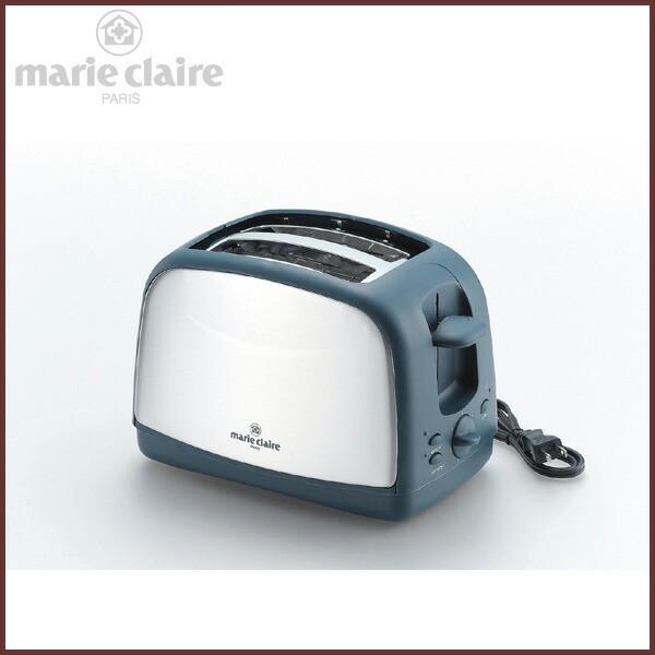 ポップアップトースター 2枚焼き 焼き時間調整ダイヤル付き 【marie claire -マリクレール-】◆キッチン家電/調理家電/ダークグレー