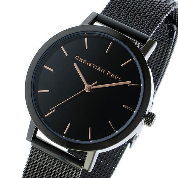 レビューで次回2000円オフ 直送 クリスチャンポール CHRISTIAN PAUL ロウ RAW メッシュ レディース 腕時計 RWML-01 ブラック/ブラック