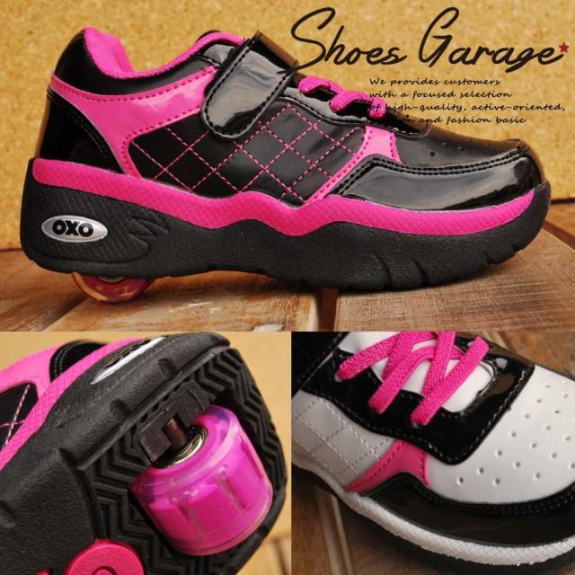 キッズ ローラーシューズ 女の子 SW011 一輪タイプ ウィール取り外し可能 靴 スニーカー Y_KO 【Y_KO】