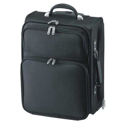 ビジネスを快適にするキャリー付きコンパクトキャリーバッグ PCトラベルキャリー 14インチワイド ブラック サンワサプライ BAG-CR1TN