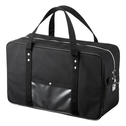 書類の輸送やメールバッグとして使える丈夫なボストンバッグ メールボストンバッグ Lサイズ ブラック サンワサプライ BAG-MAIL2BK