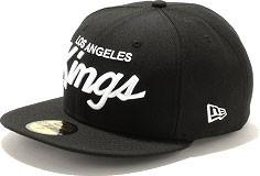 NEWERA ニューエラ NEWERA キャップ 59FIFTY NHL ロサンゼルス・キングス ブラック/ホワイト (11308592)