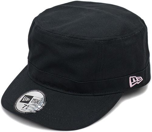 NEWERA ニューエラ NEWERA キャップ CAP WM-01 ミリタリー ワークキャップ ブラック ピンクフラッグ(N0000192 SC/11135296)