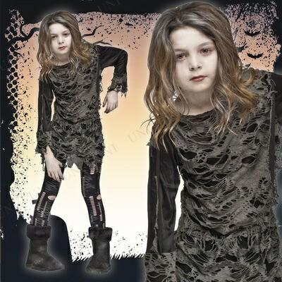 【在庫処分】 ウォーキングゾンビ 子供用 M ハロウィン 衣装 子供 仮装衣装 コスプレ コスチューム 子ども用 キッズ こども