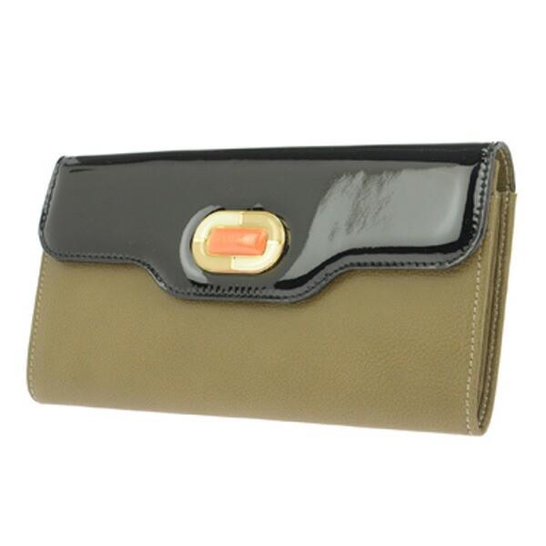 ブルガリ BVLGARI 長財布 レディース 33808 BUFFALO/BRW MUD ブラック/カーキー【送料無料】