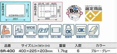 車両バンパー素材使用!ツールボックス<工具箱・道具箱・収納・DIY・小物入れ・箱・作業・収納箱> SR-400 【送料無料】
