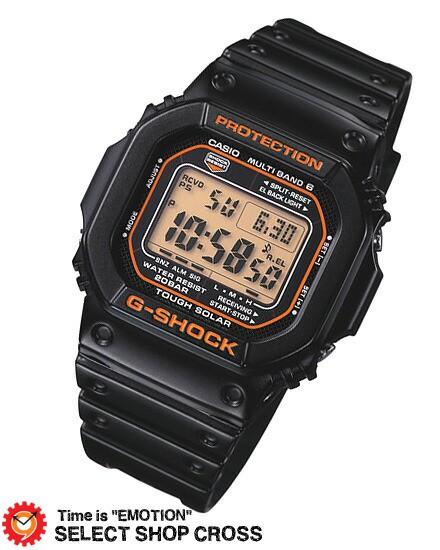 【お取寄せ】 Gショック G-SHOCK CASIO カシオ メンズ 腕時計 電波 ソーラー gw-m5610r-1jf 国内モデル デジタル ブラック×オレンジ vd