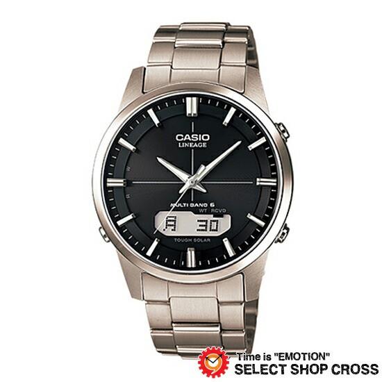 CASIO カシオ LINEAGE メンズ 腕時計 電波 ソーラー マルチバンド6 アナデジ LCW-M170TD-1AJF シルバー ブラック 国内モデル