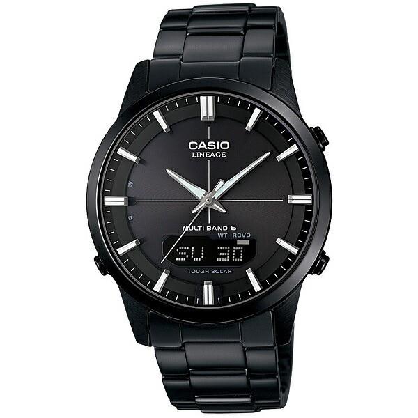 CASIO カシオ LINEAGE メンズ 腕時計 電波 ソーラー マルチバンド6 アナデジ ブラック LCW-M170DB-1AJF 国内モデル