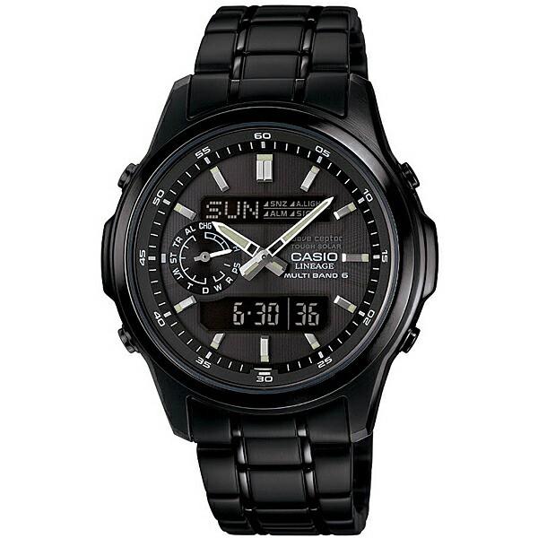 CASIO カシオ LINEAGE メンズ 腕時計 電波ソーラー マルチバンド6 アナデジ LCW-M300DB-1AJF ブラック 国内モデル