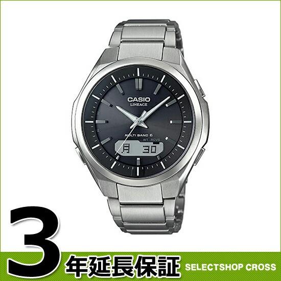 LINEAGE CASIO カシオ リニエージ メンズ 腕時計 電波ソーラー アナログ LCW-M500TD-1AJF チタン ブラック×シルバー 国内モデル