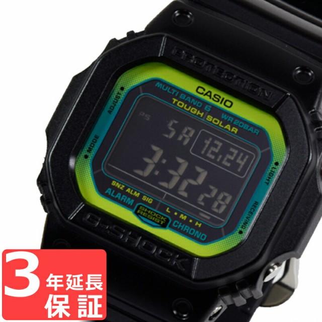 CASIO カシオ Gショック G-SHOCK ベーシック 電波ソーラー メンズ 腕時計 ブラック グリーン GW-M5610LY-1DR 海外モデル