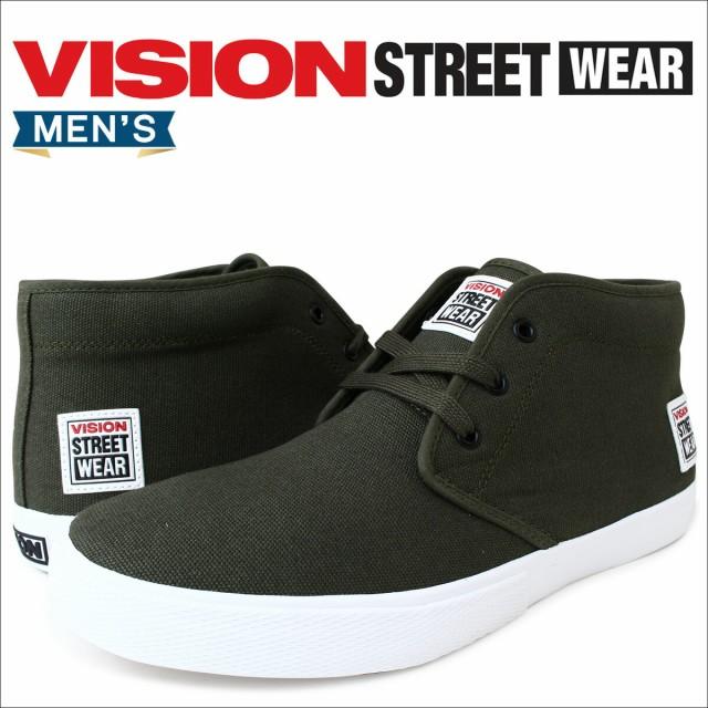 VISION STREET WEAR ヴィジョン ストリート ウェア スニーカー メンズ レディース YUMA VSW,6354 靴 オリーブ