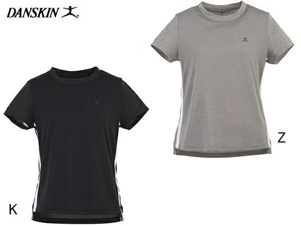 ダンスキン:【レディース】クルーT【DANSKIN スポーツ フィットネス 半袖 Tシャツ】