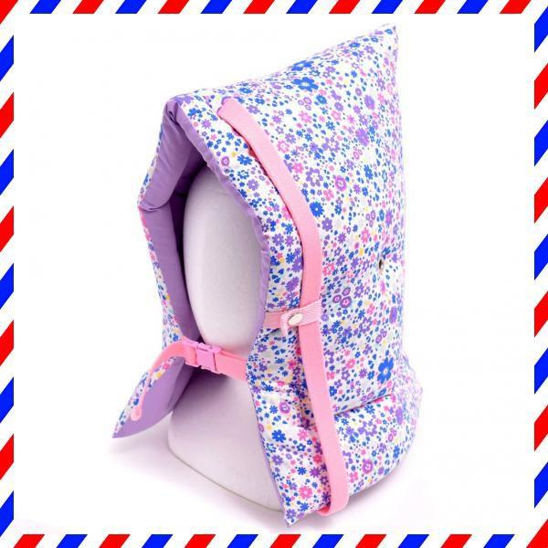 防災頭巾 子供用 フラワー模様のエアリーシャワー(ラベンダー) N4433500