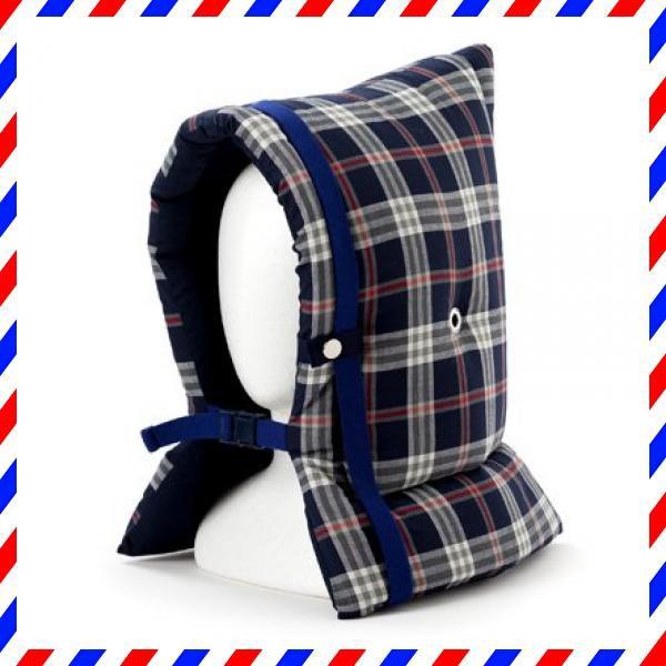 防災頭巾 子供用 タータンチェック・ネイビー N4438200