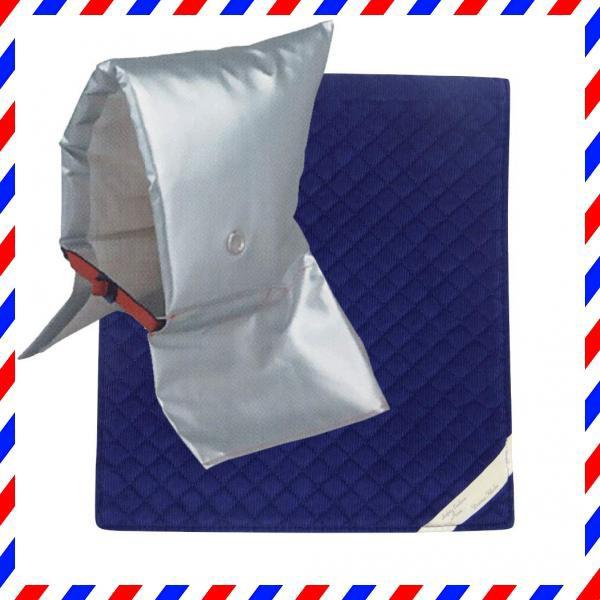 頭巾 & カバー セット [ 大 ブルー ] セーフティクッション [ EJ ]【 日本防炎協会認定 】