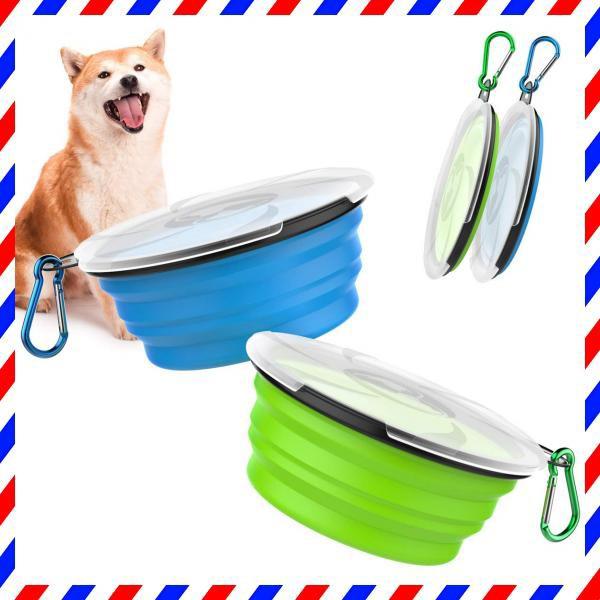 ペットボウル Pawaboo 携帯ペットボウル 折り畳み シリコン製 給水ボウル ペット食器 餌入れ 水やり用品 蓋付き・・・