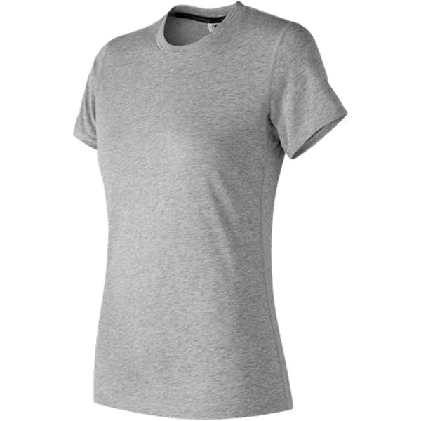 a003a8b2faba1 ニューバランス レディース シャツ トップス WT73123 Heather Tech Short Sleeve Tee Athletic Grey
