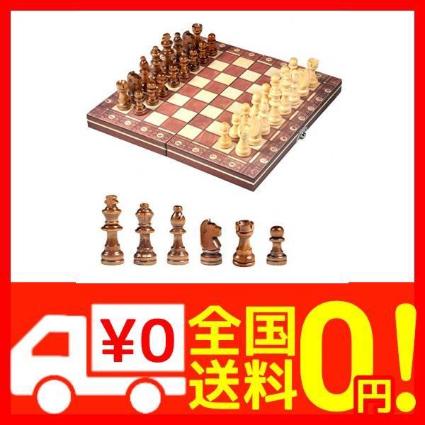 国際チェスセット玩具 チェス盤 木製 携帯型 マグネット 折りたたむボード ポータブル子供 旅行 家庭 娯楽 エンターテ・・・