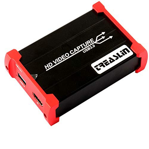 TreasLin USB3.0 HDMI ビデオキャプチャーボード Switch PS4 Xbox Wii U、PS3用・・・