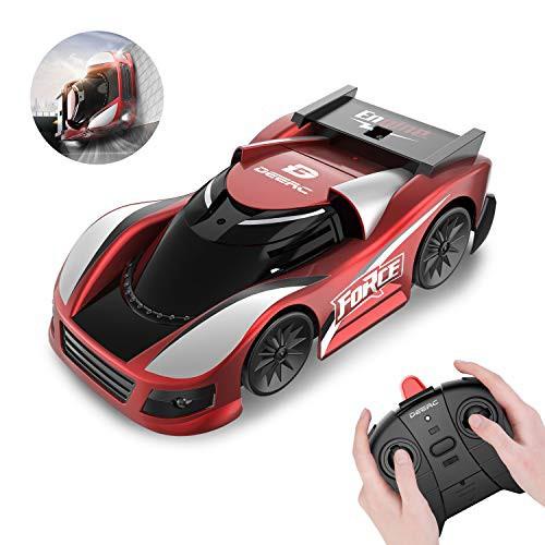 DEERC ラジコンカー こども向け 壁を走る 車 おもちゃ 室内 壁・天井・床 激走カー 赤外線コントロール プレゼン・・・