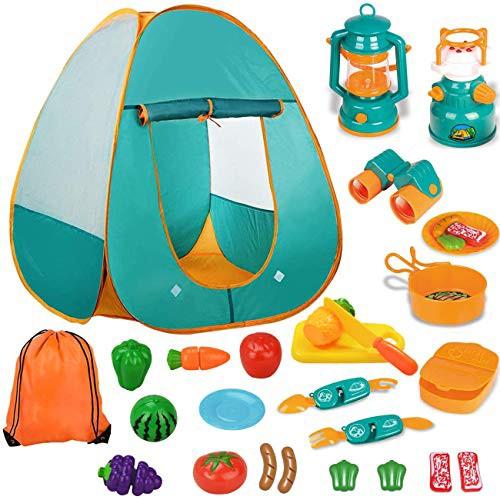 キッズテント キャンプテント 子供用テント おもちゃ 男の子 女の子 知育玩具 おままごと キャンプセット 折りたたみ式・・・