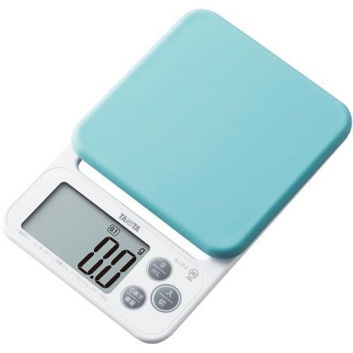 タニタ クッキングスケール キッチン はかり 料理 シリコンカバー付き デジタル 2kg 0.1g単位 ブルー KJ-2・・・