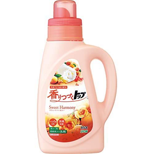 香りつづくトップ スウィートハーモニー 蛍光剤無配合 柔軟剤入り洗濯洗剤 液体 本体 850g