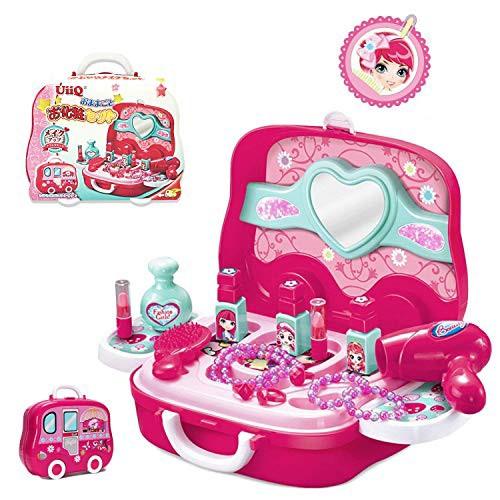 UiiQ おままごと お化粧おもちゃ メイクセット 女の子向け お化粧セット メイクアップ 玩具 コスメティック 収納ト・・・