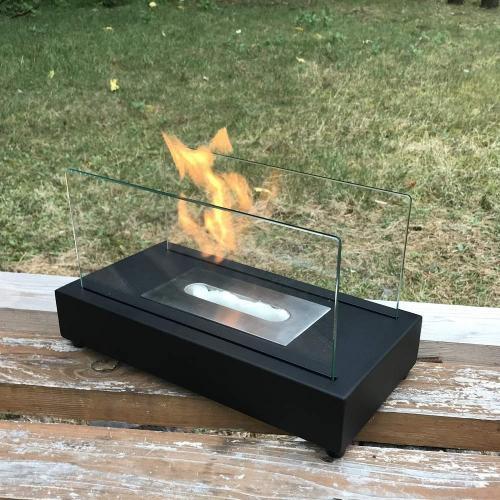 ガレージ・ゼロ(Garage Zero) バイオエタノール暖炉 屋内/屋外両用 GZIT01 長方形 ブラック