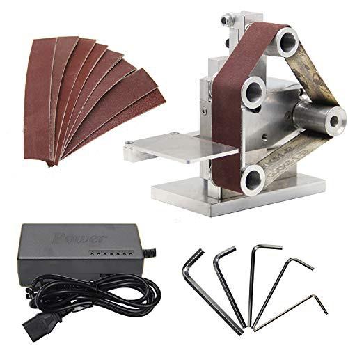 Huanyu ミニベルトサンダー 卓上型電気サンダー 7段変速 4500~9000RPM/MIN 家庭用・業務用・DIY・・・