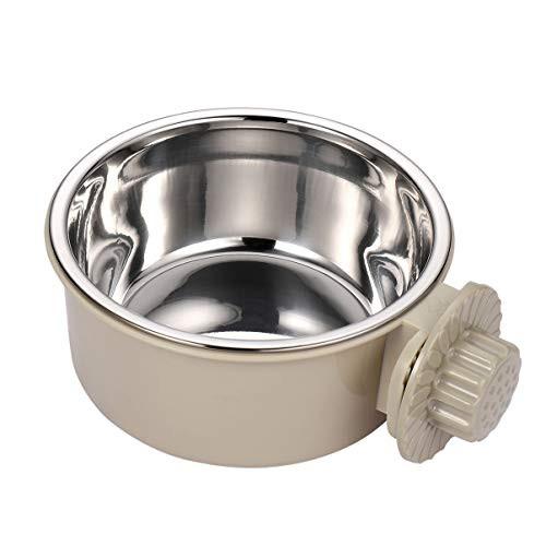 POPETPOP ペットボウル ハンガー 固定 ゲージ用 ペット食器 餌入れ ヘルスウォーターボウル 猫 犬 うさぎ 小・・・