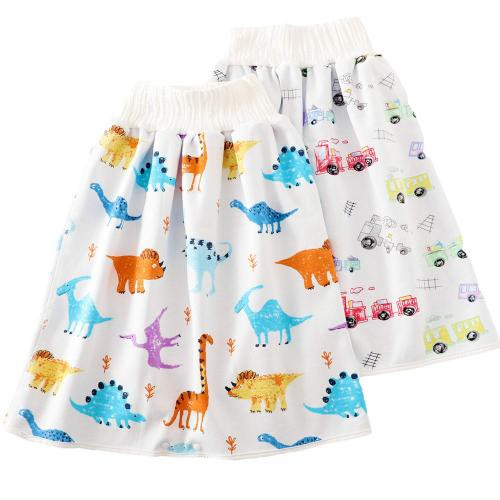 腹巻付 おねしょの対策ケット 2枚入 おねしょケット 赤ちゃん スカートタイプ 綿 おむつ 防水 ベビー 夜尿対策 ゴム・・・