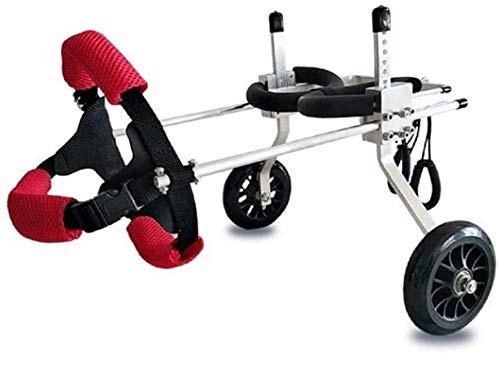 犬用車椅子 ペット用車椅子 ペット歩行器 後肢障害ペット用 後足支持 高さ調整可能 軽量アルミ製 散歩補助 老犬介護 コ・・・