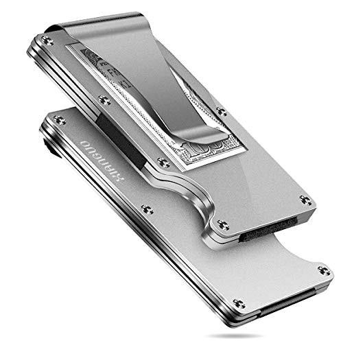 XIANGUO(シャンゴー)マネークリップ クレジットカードケース 磁気防止 シルバー