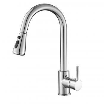 Casavilla キッチン水栓 蛇口 混合水栓 シングルレバー ハンドシャワー 伸縮式ノズル シャワーヘッド キッチン・・・