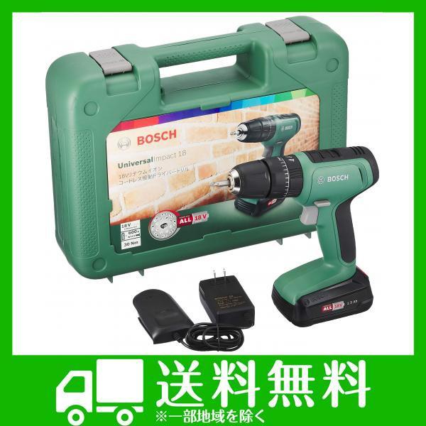ボッシュ(BOSCH) 18V コードレス振動ドライバードリル (1.5Ahバッテリー1個・充電器付) UID118