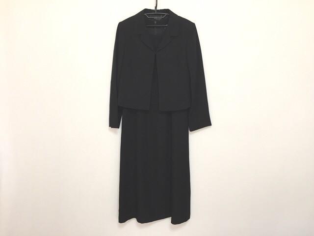 コーガマリコ MARIKO KOHGA ワンピーススーツ サイズ40 M レディース 黒 ロング丈【中古】