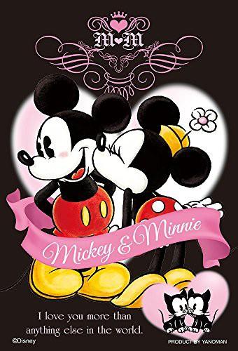 ディズニー プリティ・キス ミッキーマウス ミニーマウス プチライト ジグソーパズル アニメ キャラクター 99ピース 10x14.7cm