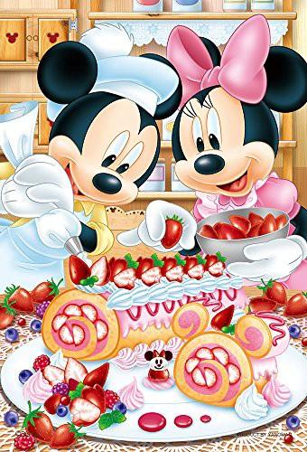 ディズニー ベリーベリー・ロールケーキ ミッキーマウス ミニーマウス プチライト ジグソーパズル アニメ キャラクター 99ピース 10x14.7