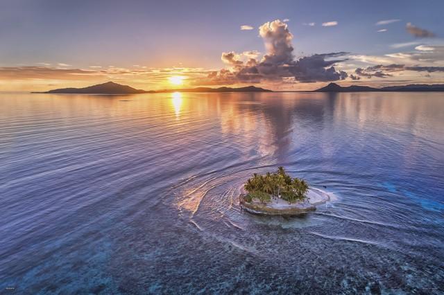小さな楽園(JEEP島の夕日) ジグソーパズル 風景 1000ピース 50×75cm
